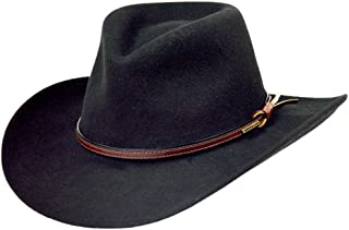 Stetson Men s Bozeman Wool Felt Crushable Cowboy Hat - Twboze-813007 Black ddfda3a43528