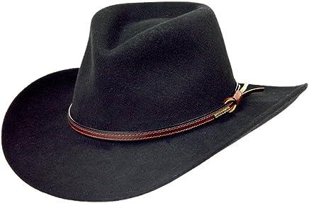 a35c085daa1bca Stetson Men's Bozeman Wool Felt Crushable Cowboy Hat - Twboze-813007 Black