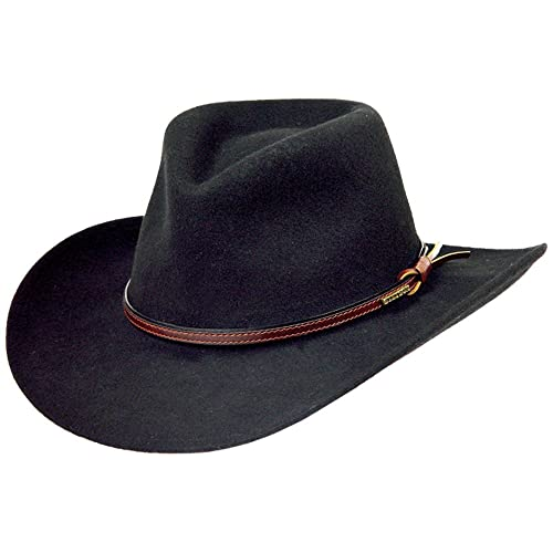 8987ec6ae81006 Stetson Men's Bozeman Wool Felt Crushable Cowboy Hat - Twboze-813007 Black