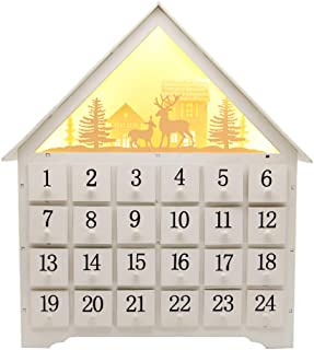 SAND MINE Countdown to Christmas Wooden Advent Calendar, White