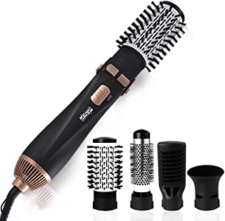 Portable 4 in 1 Curling Iron 360° Rotating Power Cord Hair Curler Anti-scalding Design Curling Tong Curling Wand (Color : ...