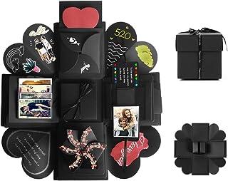 Tumao Caja de Regalo Creative Explosion Love Memory DIY �lbum de Fotos cumpleaños, una Sorpresa Sobre el Amor, Abierto con 14''14''4.7 '', Negro. (Caja de Regalo)
