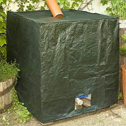 NOOR IBC Wassertank-Schutzhaube Pro 200 g/m² 116x100x120cm I Grüne Haube für 1000l Wassercontainer I Langlebiges IBC-Wassertankzubehör