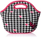 BYO B-LB35-HTC Rambler Insulated Neoprene Lunch Bag, Houndstooth Black
