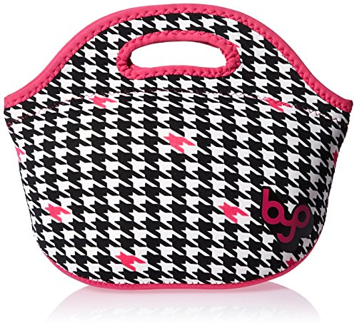 BYO Rambler Insulated Neoprene Lunch Bag, Houndstooth Black