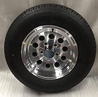 New 15 Inch 5 Lug Aluminum Trailer Wheel with Tire ST205 75 R15 8 Ply S20 56545T 5 on 4.5