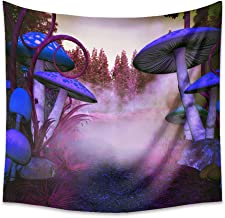 AiiHome Psychedelic Tapestry Trippy Tapestry Mushroom Tapestry Wall Hanging Forest and Seabed with Mushrooms Large Art Tapestry for Living Room Bedroom Dorm Decor
