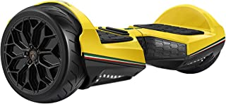 """LAMBORGHINI Hoverboard 6.5""""Balancing Scooter with App-Enabled and Bluetooth Speaker, SmartSelf Balancing Electric Hover Board Scooterfor Adult Kids ES11- Yellow, US Plug"""