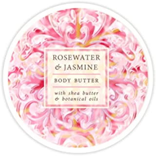 Greenwich Bay Botanic Body Butter Rosewater & Jasmine 8oz Tub