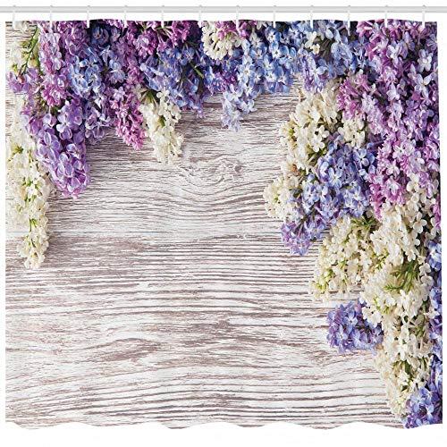cortinas de baño lila