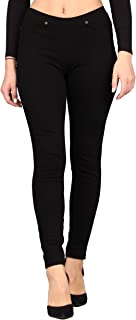 Women's Denim Jeggings, Stretchable Cotton Blend