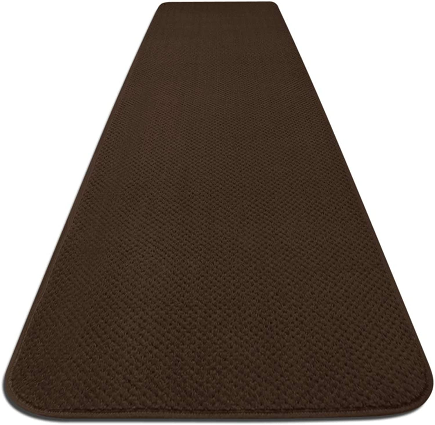 House, Home and More Skid-resistant Carpet Runner - Chocolate Brown - 10 Ft. X 27 In. - Many Other Sizes to Choose From