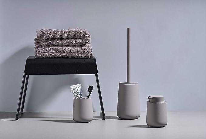 Steingut mit Soft Touch-Beschichtung Zone Denmark Nova One Seifenspender f/ür Fl/üssigseife Cameo-blau