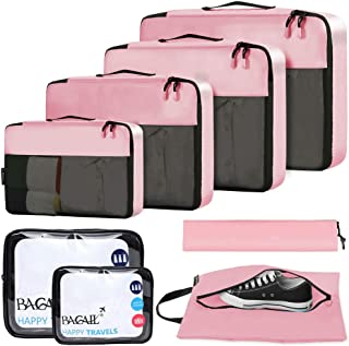 BAGAIL 8-Pcs Luggage Packing Organizers Packing Cubes for Travel Accessories