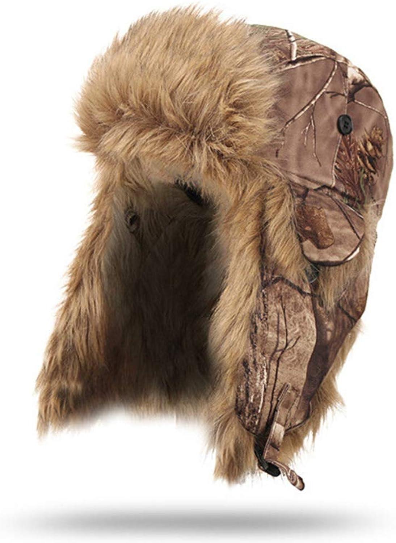 Jungle Men Bomber Hats Winter Warm Waterproof Windproof Bionic Camouflage Cotton Hunting Ear Predective Cap