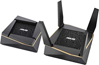Asus (RT-AX92U 2 Pack) Performance Mesh Tri-Band AX6100 WiFi Routers – Whole Home WiFi Mesh with 802.11Ax (WiFi 6) Ax Technology Includes 4 LAN 1 USB 3.1 USB 2.0. Fully Backwards Compatible to AC
