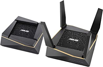 Asus RT-AX92U (2 PACK) AX6100 Tri-Band Wi-Fi 6 Mesh Router with 802.11Ax, Lifetime Aiprotection Security by Trend Micro, A...