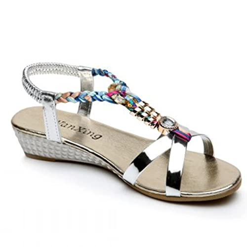 23e47f695bdb Gladiator High Silver Sandals  Amazon.co.uk