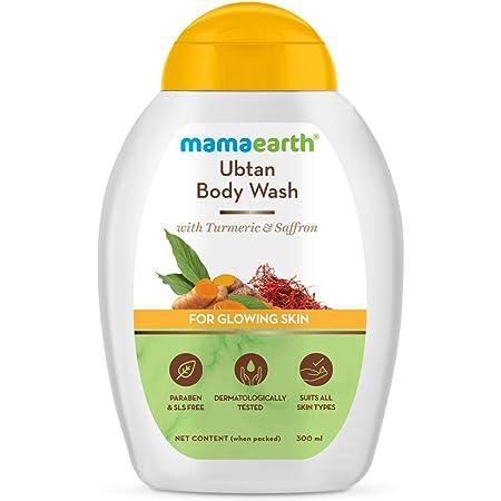 Mamaearth Ubtan Body Wash With Turmeric & Saffron, Shower Gel for Glowing Skin – 300 ml
