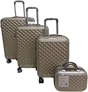 Love Travel Luggage Trolley bags 3 Pieces Set and 1 Piece Beauty Case, Gold