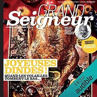 Couverture de Grand Seigneur. Le magazine du plaisir à table, Décembre 2018