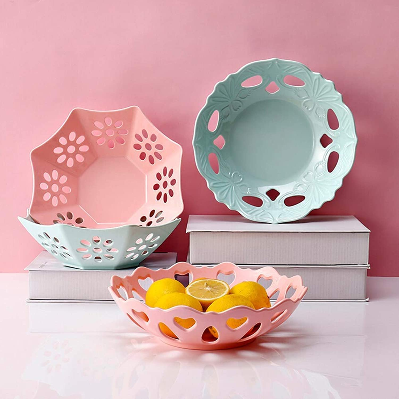 Fruit Bowls Fruit Bowls - Simple et élégant, en plastique Salon moderne Fruit Basket Cuisine Légumes Dim Sum Fruit Présentoir Bleu,Bleu,B