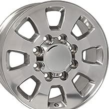 OE Wheels 18 Inch Fits Chevy Silverado 2500HD 3500HD GMC Sierra 2500HD 3500HD 8x180 Heavy Duty Silverado Style CV75B Polished 18x8 Rim Hollander 5501