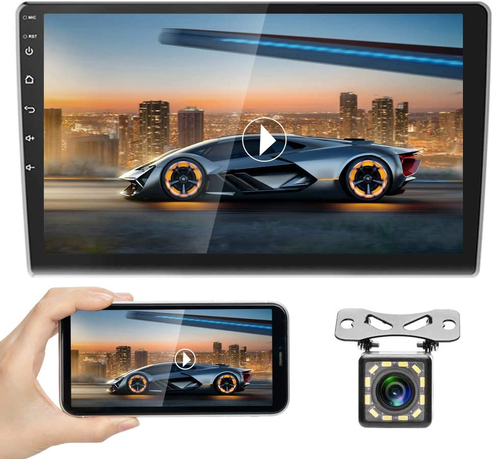 Android Car Radio 10 Inch Touch Screen GPS Sat Navi Stereo Player AMprime 2 Din Bluetooth WiFi FM Receiver Mobile Phone Mirror Link Dual USB +...
