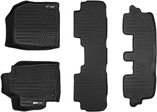 MAXLINER Floor Mats 3 Row Liner Set Black for 2008-2013 Toyota Highlander Non Hybrid