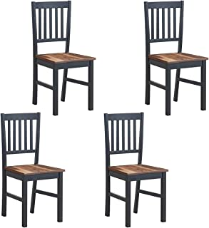 COSTWAY Set of 4 Dining Chairs, Dining Room Side Chair...