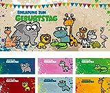 12 Einladungskarten zum Kindergeburtstag