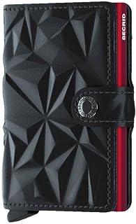 Secrid Miniwallet - Matte Brick - Black Leather