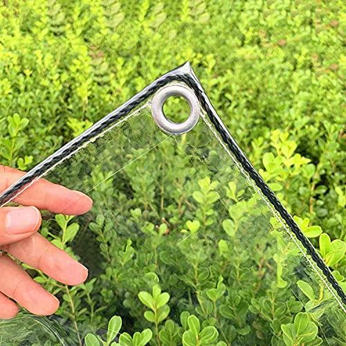 SJQ Lona de Vidrio Transparente, Cubierta de Lona Transparente Impermeable, Lona Resistente al Polvo a Prueba de Lluvia, PVC con Aislamiento antienvejecimiento (0,3 mm / 400 g/m²) (tamaño: 0,9