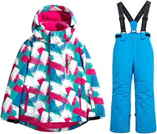 Girls Insulated Ski Jacket + Pants Windproof Waterproof Snowsuit (US 4 - US 16)