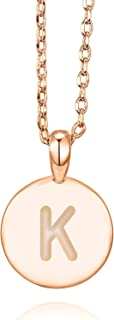 14K Rose Gold Plated Letter Necklace for Women | Gold Initial Necklace for Girls