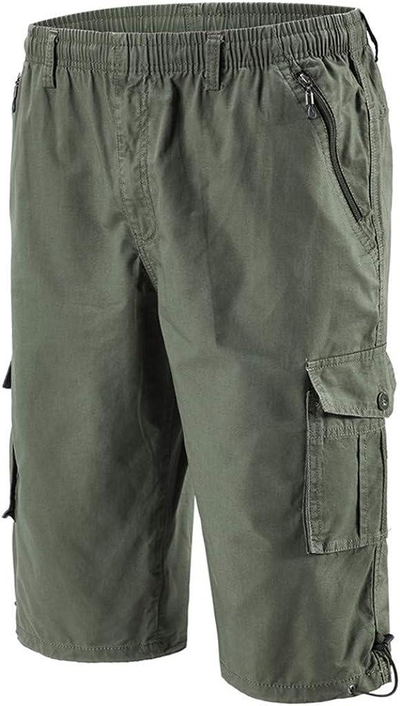 Mens Ripstop Cargo Shorts Multi Pocket High Waist Cargo Work Hiker Overalls Short Casual Pants Big and Tall (XL-6XL)