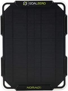 Goal Zero Nomad 5 Solar Panel   5 Watt Monocrystalline Solar Panel, Perfect for USB Phone Solar Charging
