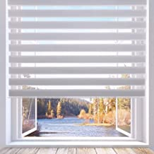 LUCKUP Horizontal Window Shade Blind Zebra Dual Roller Blinds Day and Night Blinds Curtains,Easy to Install 23.6