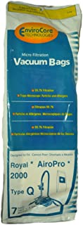 Royal AiroPro 2000 Type Q Canister Vacuum Cleaner Bags, EnviroCare Replacement Brand, designed to fit Royal AiroPro 2000 Canister Vacuum Cleaner, 99.7 Microfiltration, 7 bags in pack