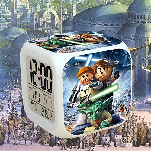FCH-GY Stilvolle Star Wars Roboter Weißer Soldat Schwarz Samurai Anime Kinder Kreative Bunte Färbung Wecker Uhr 10-2