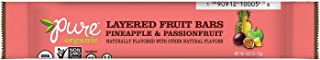 Pure Organic Pineapple Passionfruit Layered Fruit Bar - Organic, Gluten-Free, Non-GMO Project Verified, Vegan Fruit Snack, 0.63oz (Pack of 20)