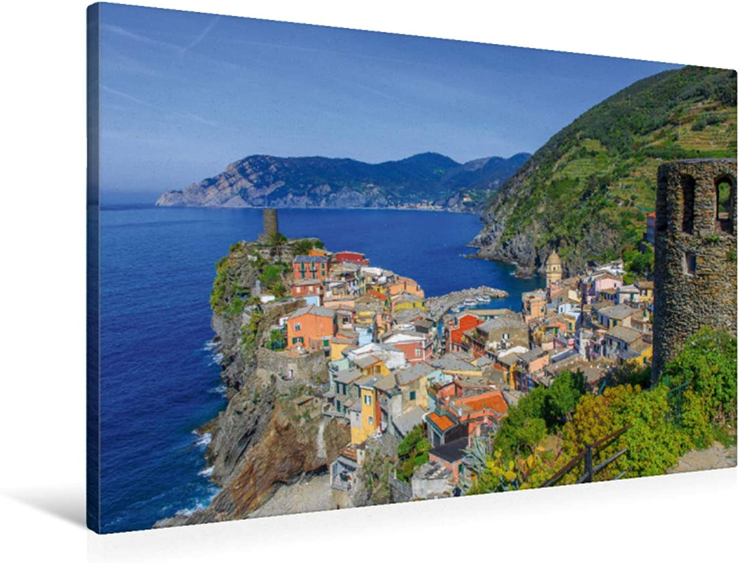Premium Textile Canvas 90 x x x 60 cm Vernazza East View 8c12db