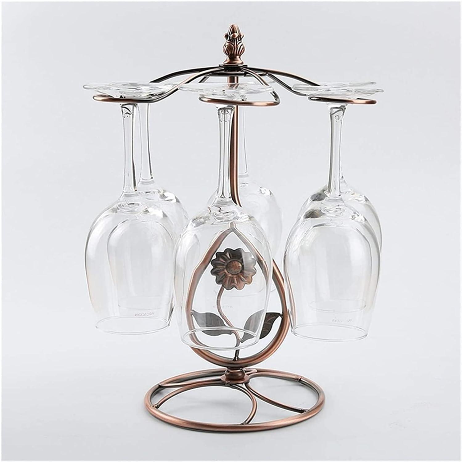 LSZ Wine Rack Metal New popularity Freestanding Glass Goblet unisex Holder
