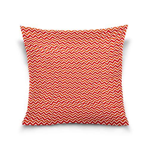 N/Q Sisters Throw Funda de almohada, 45 x 40 cm, para niños pequeños, decoración del hogar, fundas de cojín cuadradas, para exteriores, forma de línea ondulada, color rojo