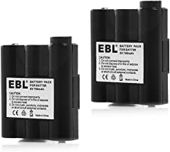 EBL BATT5R AVP7 Replacement Rechargeable Battery for GXT Walkie Talkie GXT1000 GXT1050 GXT850 GXT860 GXT900 GXT950 and More, 2 Pack