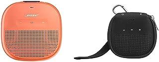 Bose SoundLink Micro Waterproof Bluetooth speaker (Bright Orange) with AmazonBasics Case (Black)