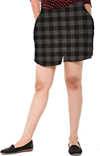EASY 2 WEAR ® Womens Checks Shorts (Size XS to 4XL) Comfort FIT and Plus Sizes