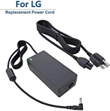 """for LG 19V LED LCD Monitor Widescreen HDTV Power Cord Replacement Charger Adapter for 19"""" 20"""" 22"""" 23"""" 24"""" 27"""" Power Supply, 19V, AC, DC, 8.5Ft."""
