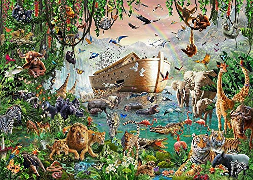 Puzzels Voor Kinderen 1000 Stukjes, Jungle Adventure, Noah'S Ark, Animal World