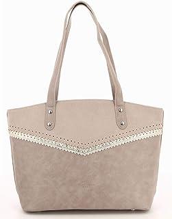 b06baf0a2a Fuchsia - Grand sac porté épaule simili cuir femme Henley (f9808-6) taille